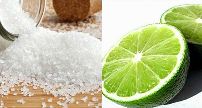 dùng muối và chanh để tẩy rỉ sét